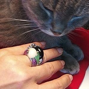 Ring white gold 18 carat 26g size 7